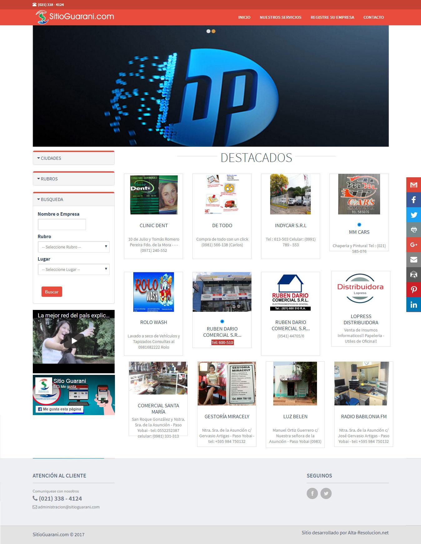 Alta-Resolucion.net - Diseño de Logotipo, Pagina web y Papelería Comercial, Todo en un solo Plan en Paraguay